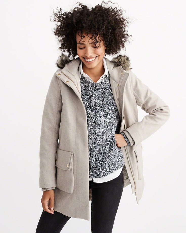 Heritage Wool Parka  Woman New Arrivals...great acket for Winter of 2017 from Abercrombie.com