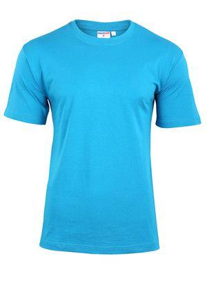 T-shirt męski turkusowy