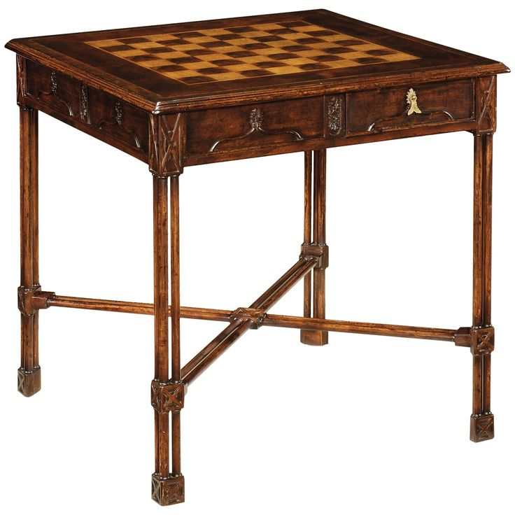 Jonathan Charles Chippendale Gothic Games Table (Small)