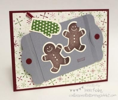 Gingerbread Cookie Diorama Card