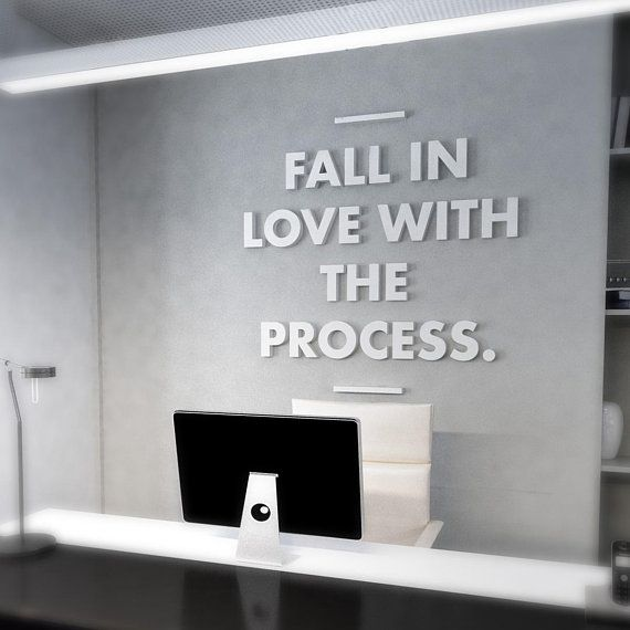 Love The Process Quote Office Wall Art Office Wall Art Office