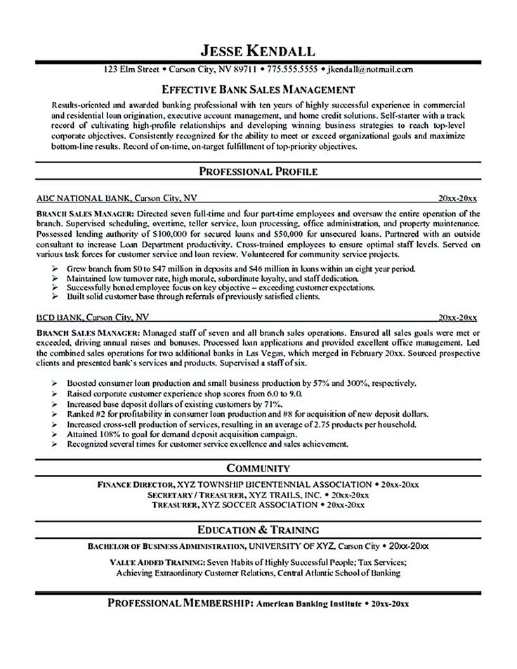 The sales manager resume should have a great explanation