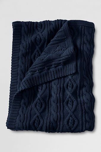 classic cotton cable throw from my favorite store: Lands End