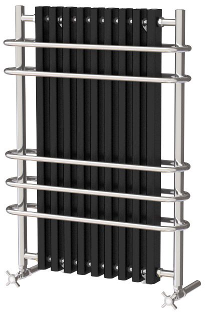 for conventional central heating system High quality, polished stainless steel & aluminium traditional radiators for a stylish period look. A radiator suitable for bathroom, cloakroom, kitchen etc. Specification: 32mm Stainless Steel tubing with white aluminium inset Integral towel hangers Metal fixing brackets for higher heat output Manufactured in Europe to EN442 standards Complete with a 25 year Guarantee Supplied with all necessary fixings, bleed plugs etc