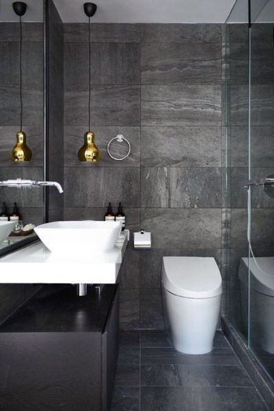 top 60 best grey bathroom tile ideas neutral interior designs rh pinterest com