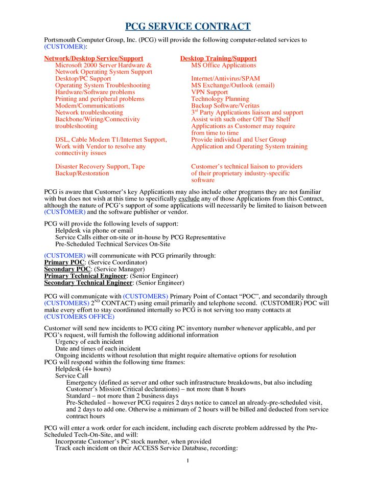 881 best Legal Documents images on Pinterest Free printable, San - service contract form