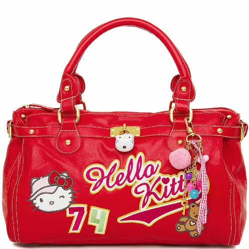 Sac à main Hello Kitty très haut de gamme, collection High Street par Camomilla de Milan.   Matière : simili cuir.  Prix de $86.90 euros.