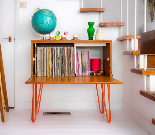 Beaver & Tapley midcentury-style record storage unit on eBay