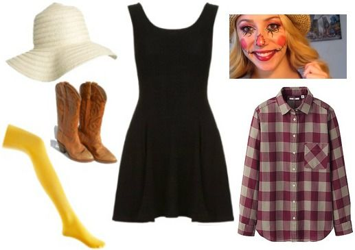 Scarecrow halloween costume ~ click this and there are 13 little black dress Halloween costume ideas ;)