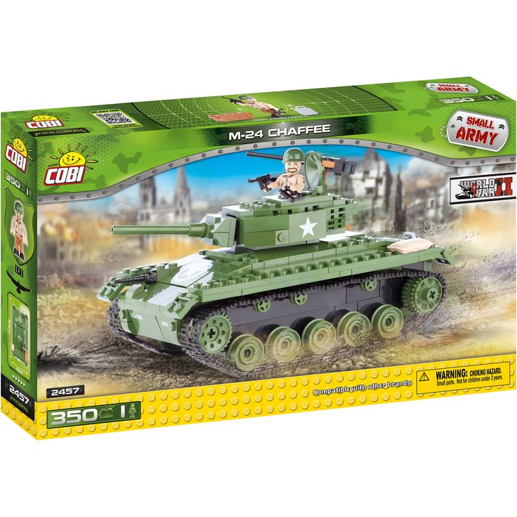 Buy COBI Small Army American M24 Chaffee Construction Blocks Building Kit at Walmart.com