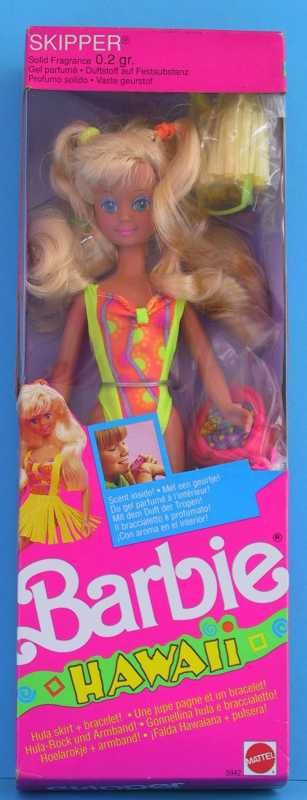 Barbie Hawaii, 1990. Skipper doll. I remember she came with some kind of smelly gloss or something that I was addicted to smelling!