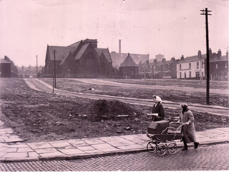 Think this was taken, on what is now, Brownlowfold Way, looking up towards the old St Matthews Church, around the late 1950's early 1960's
