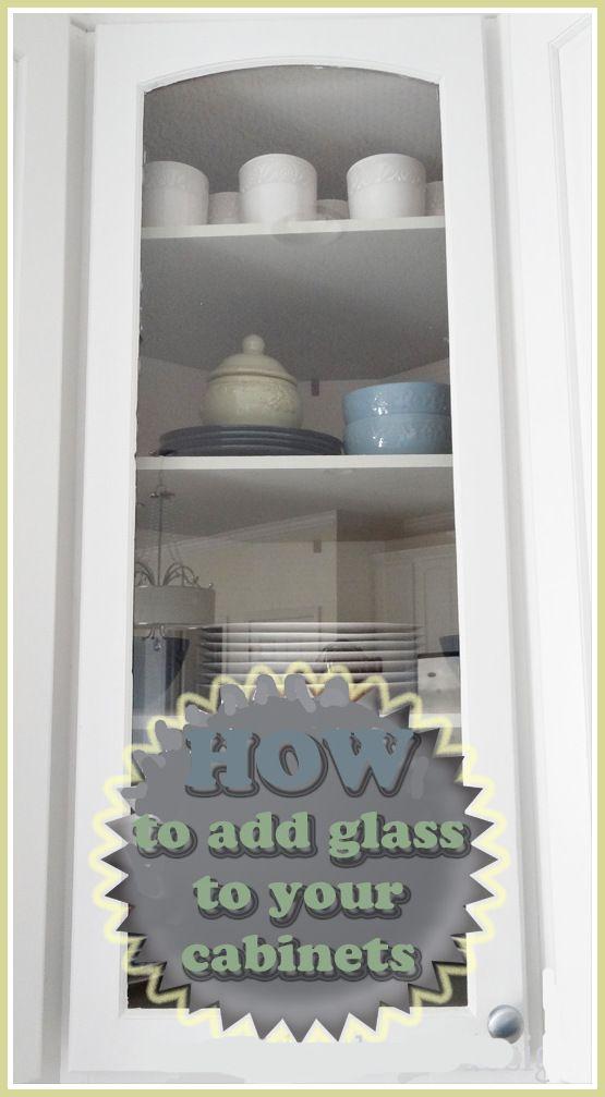 DIY glass cabinets