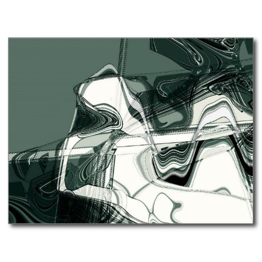 Land Formations Abstract Art Postcard, by FOMAdesign