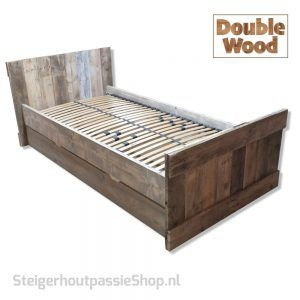 Bed Double Wood Lotte incl. schuiflade