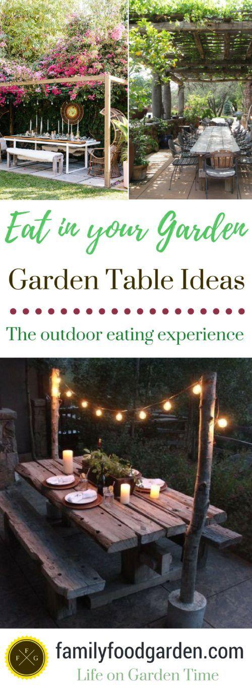 Gartentisch-Pläne + Ideen für das Hinterhof-Essen