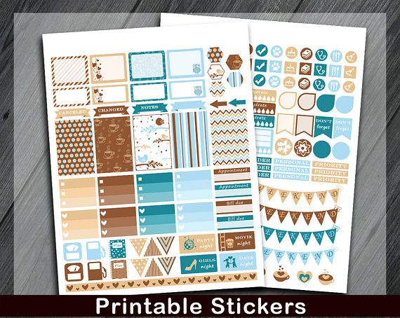 Printable Planner Stickers Mambi Planner Stickers Happy