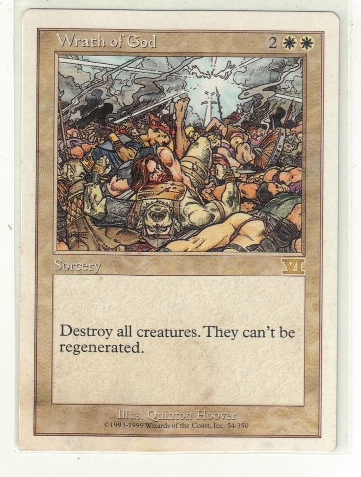 Magic the Gathering Sixth (6th) Edition - Wrath of God TCG Game Card #WizardsoftheCoast