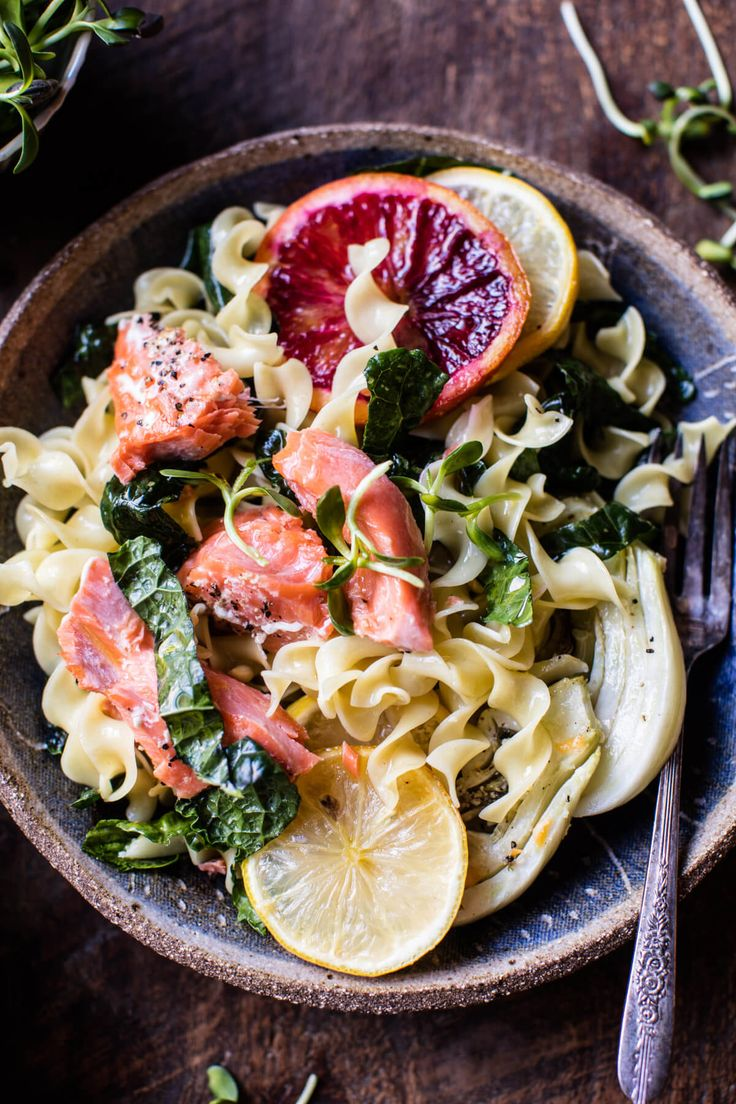 Slow Roasted Citrus Salmon with Fennel and Parmesan
