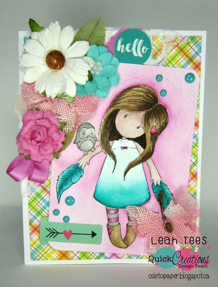 Quick Creations Inspiration using The Owl from Gorjuss!, July 2016, Created by Leah Tees, odetopaper.blogspot.ca