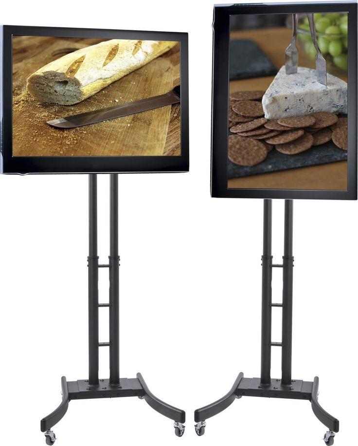 Superior TV Stand W/ Wheels, Fits Monitors 32u201d 65u201d, Collapsible W/ Travel Case U2013  Black. Portable Tv StandFlat Screen ...
