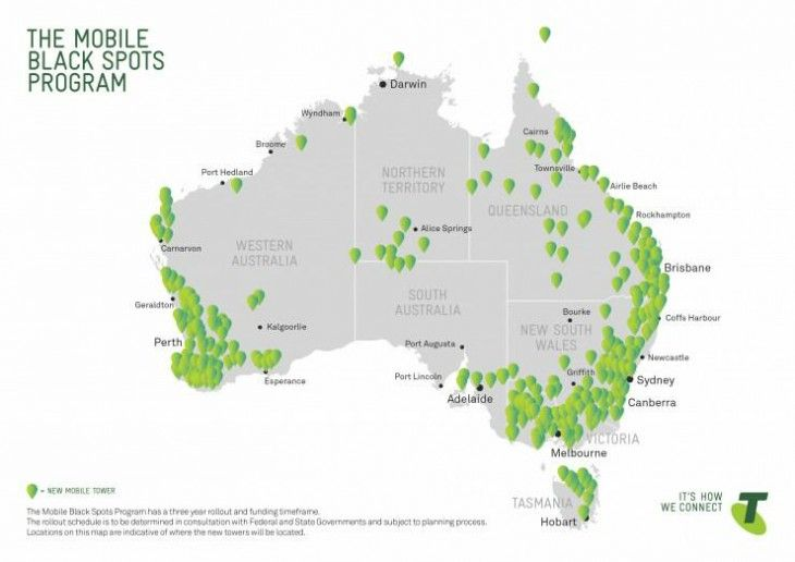 Telstra announces new sites to go online after securing funding from the Federal Government  Telstra has just announced that as part of the Federal Government's Mobile Black Spot Programme, they will be adding 679 new sites in regional areas.