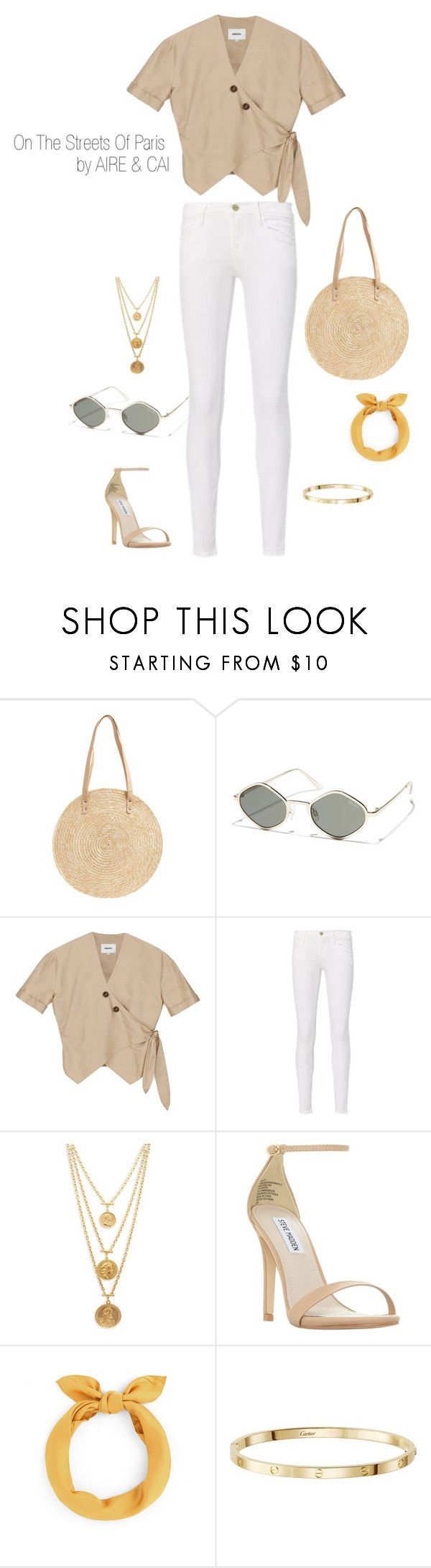 """""""Paris"""" by aireandcaimail on Polyvore featuring BP., Quay, Frame, Ben-Amun and Steve Madden"""