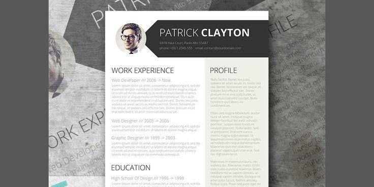 149 best Free Resume Templates images on Pinterest Free resume