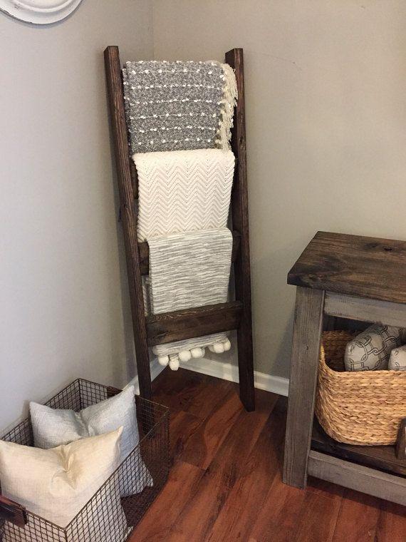 rustic blanket ladder in 2018 rustic home decor pinterest rh pinterest com