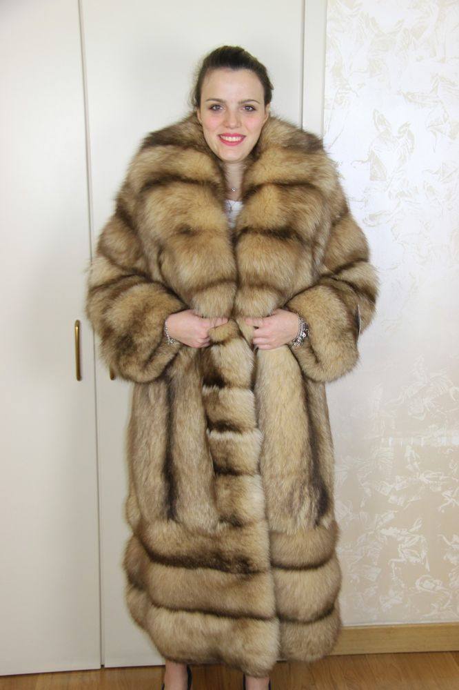 info for 7ceb9 fed26 Details about New Horizontal Mink Coat 毛皮 Pelliccia Fox ...