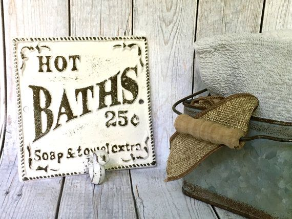 Hey, I found this really awesome Etsy listing at https://www.etsy.com/listing/448887662/shabby-chic-bathroom-sign-white-or-pick