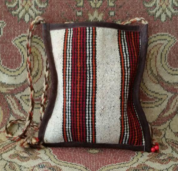 Old Kilim Rug Handbag Antique Kilim Rug Bag Vintage by OtantikArt