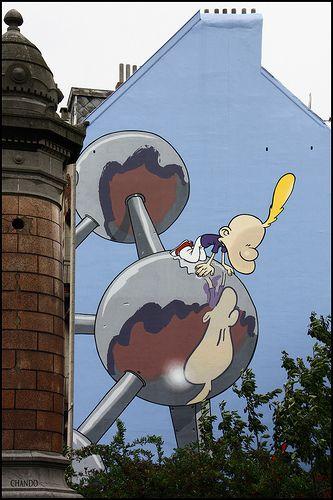 Parcours bandes dessinées à Bruxelles. #Bruxelles #Voyage