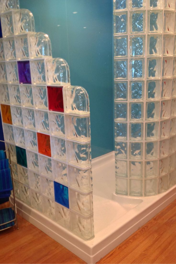 acrylic panels for bathroom walls%0A Learn how to compare shower pans for a glass block shower  This one has some