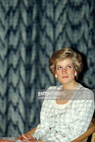 NOVEMBER 06 1989 Diana, Princess of Wales, on a visit to the British International School during her official visit to Indonesia