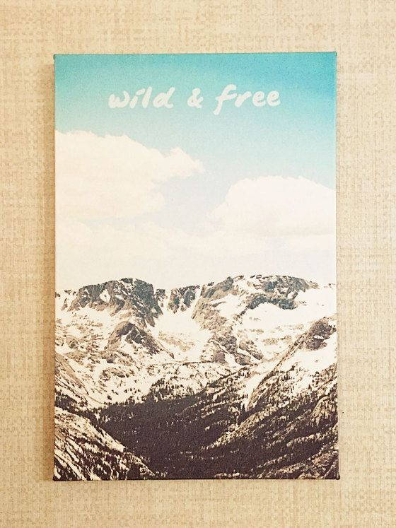 Wild and free stretched fabric art print limited edition for Space mountain fabric