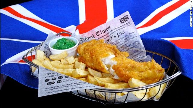 English Fish and Chips | Hastings: English cuisine. There's nothing like it in the world! You must agree, Poirot. Poirot: Eh bien, Hastings, when it is cold and dark and there is nothing else to eat, [takes a bite and grins] … it is passable.