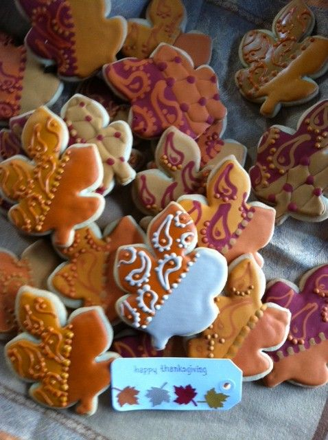 Thanksgiving Cookies for our table. www.facebook.com/auntienays