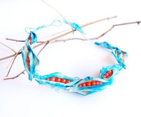 Colier statement Blue Bean - BohemianSin | Crafty