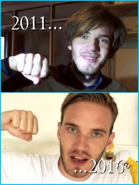 PewDiePie- Then & Now