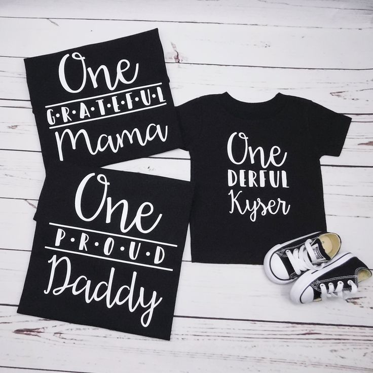Family Shirts for Baby Boy 1st Birthday, Custom Matching
