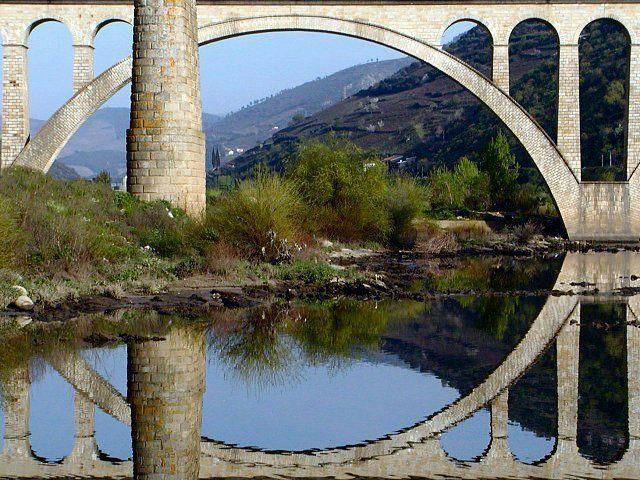 Old bridge in Peso da Regua, Portugal