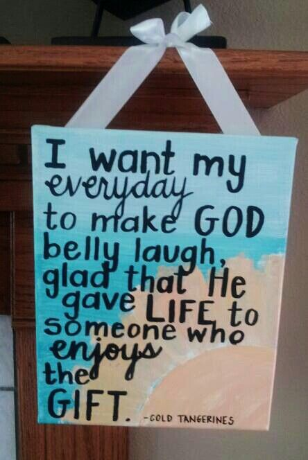 Canvas painting. Quote from Cold Tangerines by Shauna Niequist. #diy #crafting