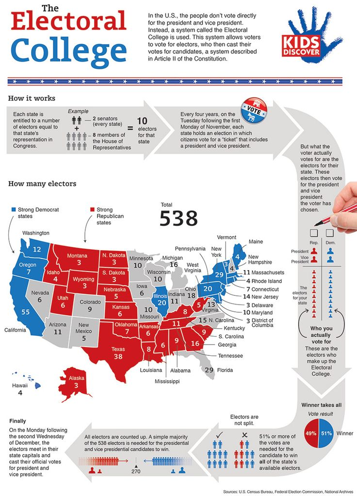 Infographic: The Electoral College - KIDS DISCOVER you have to register (free) with Kids Discover to download for free