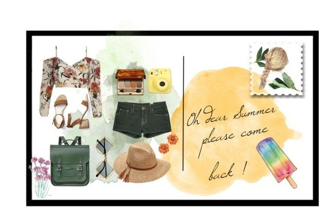 """""""Oh dear Summer"""" by ms-rockpide ❤ liked on Polyvore featuring Missoni, Gap, The Cambridge Satchel Company, Clarins, Scala, Retrò, Fujifilm, Summer, summerstyle and summer2017"""