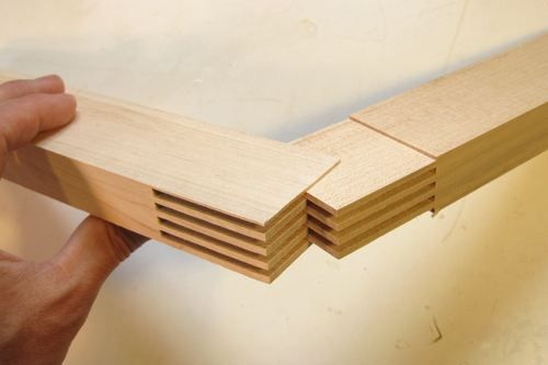 Wood fits with alternating projections