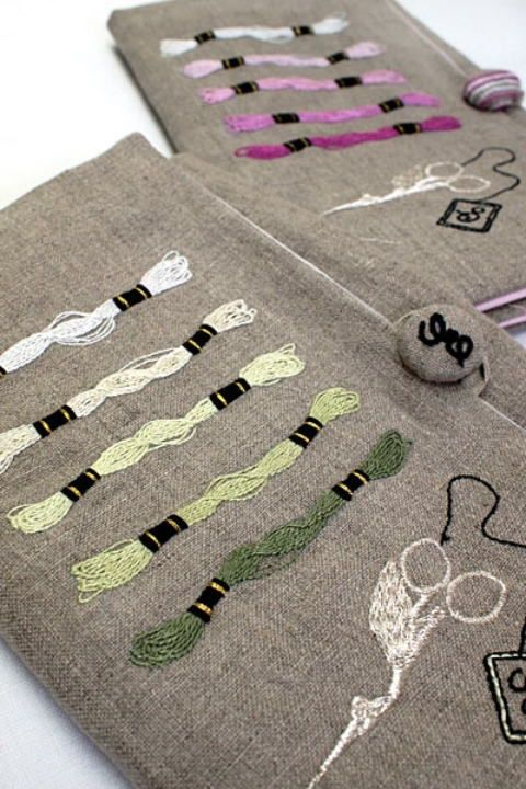 fibrearts:  Embroidered Embroidery Supplies by LoveLetter