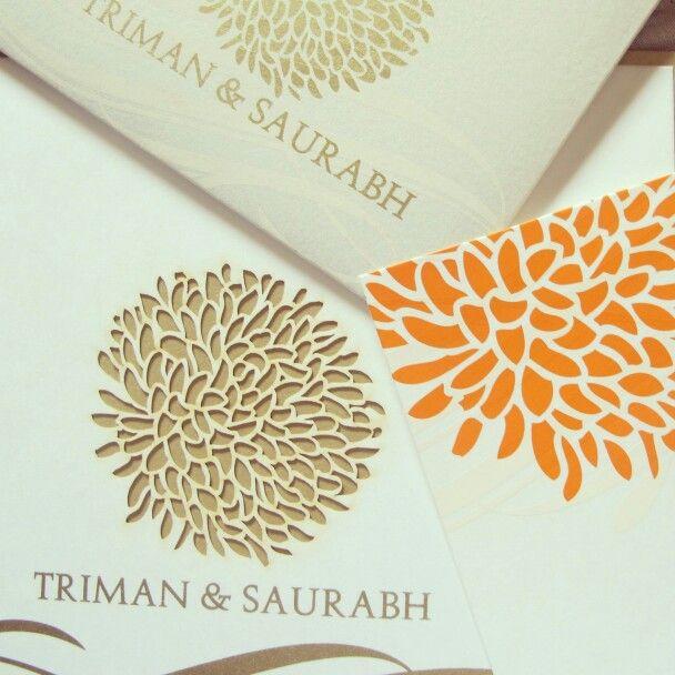 Custom laser cut Indian and traditional weddibg invitations!  #personalised #custom #design #invitations #invites #cards #weddingsutra #weddingcards #wedding #indian #ethnic #weddingdesign #traditional #lasercut #floral #patterns #gold #bling #colour #mumbai #2013