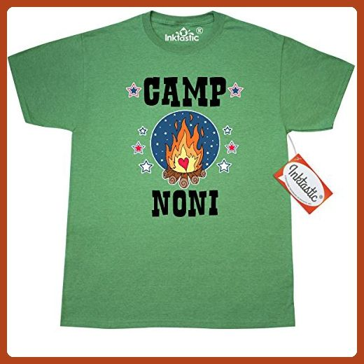 Inktastic Camp Noni with Campfire and Stars T-Shirt XXX-Large Retro Heather Green - Retro shirts (*Partner-Link)