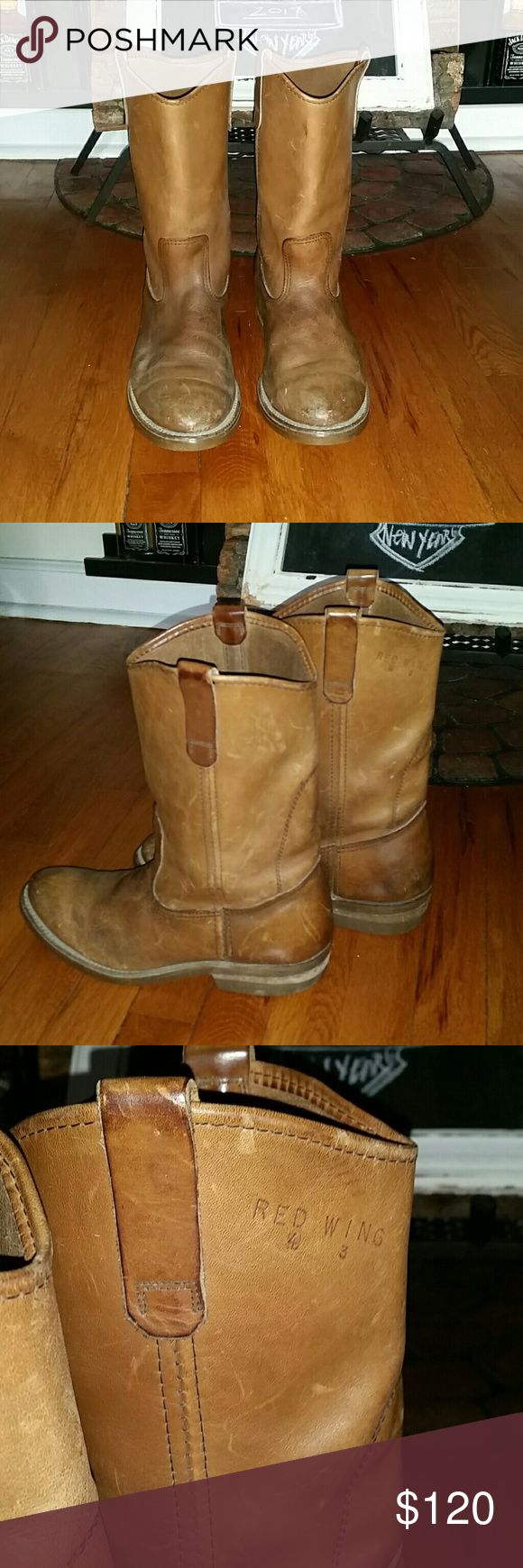 Vintage 70's RED WING PECOS USA Boots Men's 10 1/2 This is a score ! Tons of miles to keep on truckin'. Little wear on the heel, the meat of the shoe is timeless! Red Wing Shoes Shoes Boots